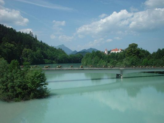 die grüne Lech bei Füssen