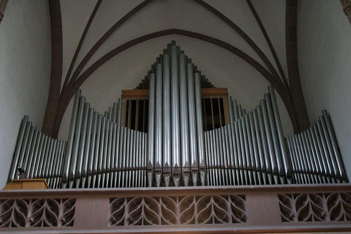 Die gut klingende Orgel