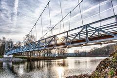 Die Hängebrücke in Grimma
