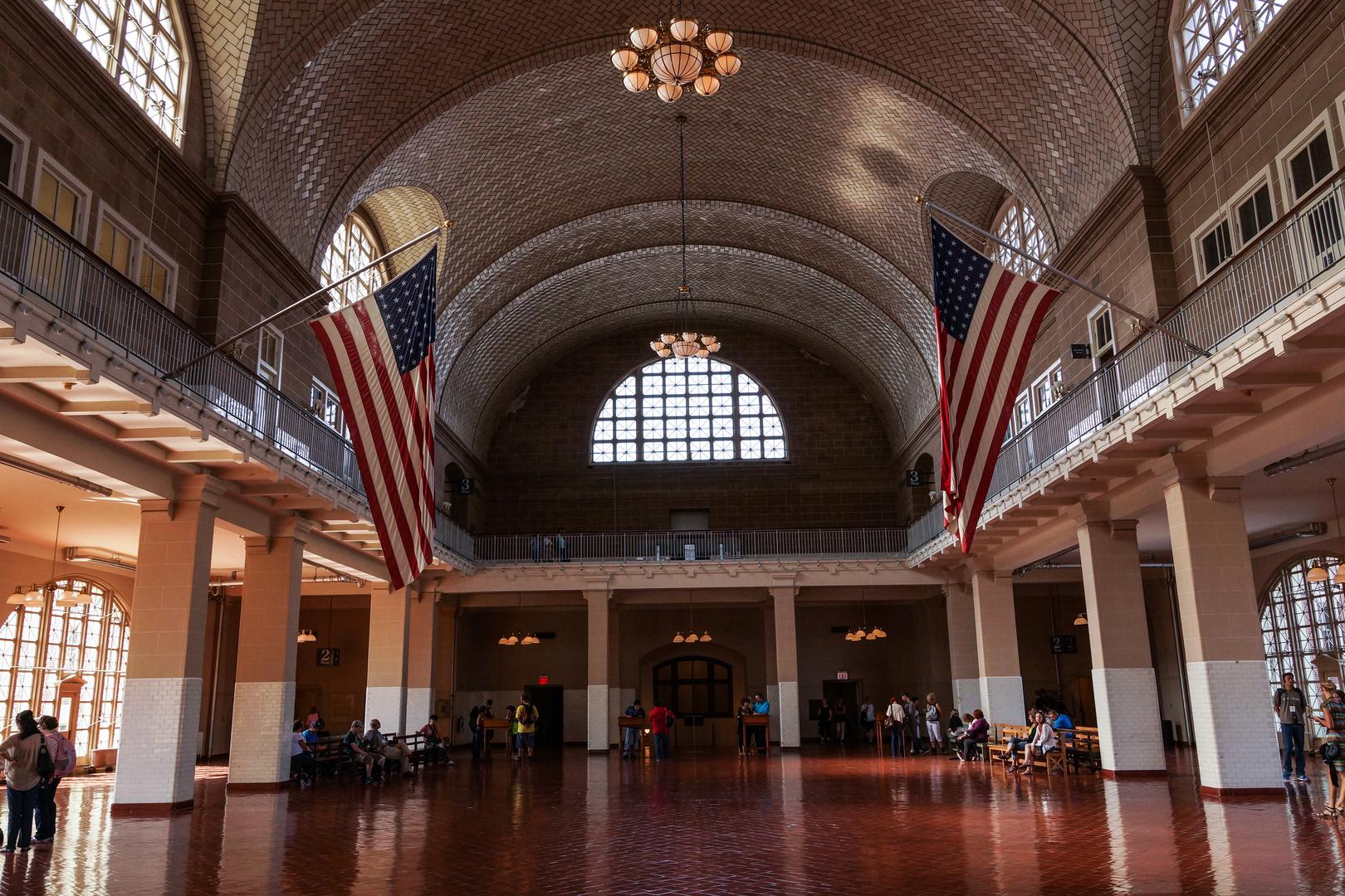 Die Halle der Einwanderer auf Ellis Island
