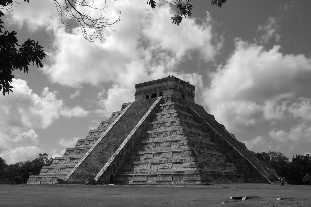 Die Hauptpyramide von Chitchen Itza
