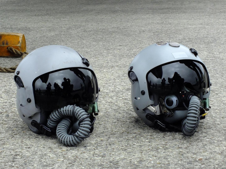 die Helme der letzten Landung