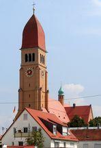 Die Herz-Jesu-Kirche in Pfersee