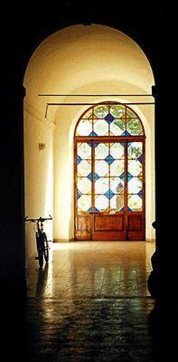 die hintere Tür