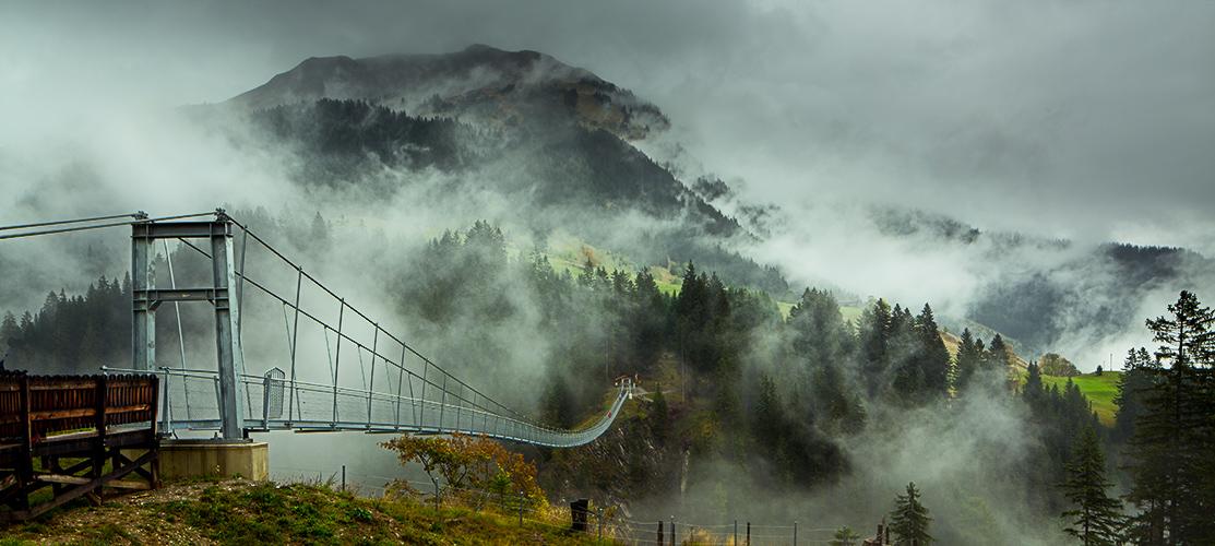 Die Holzgauer Hängebrücke