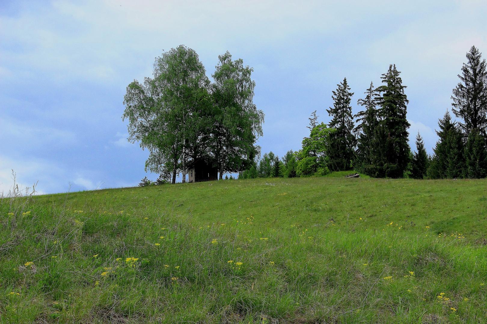 Die Hütte am Berg