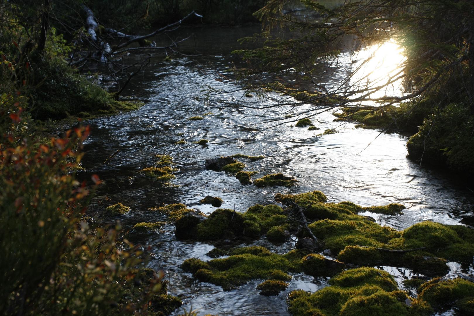 Die Isarquelle bei Sonnenuntergang