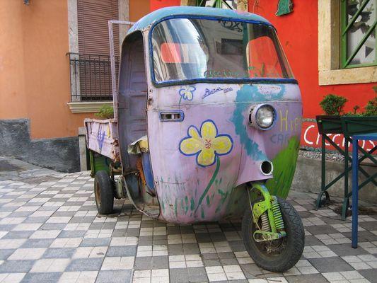 die italienischen Autos...