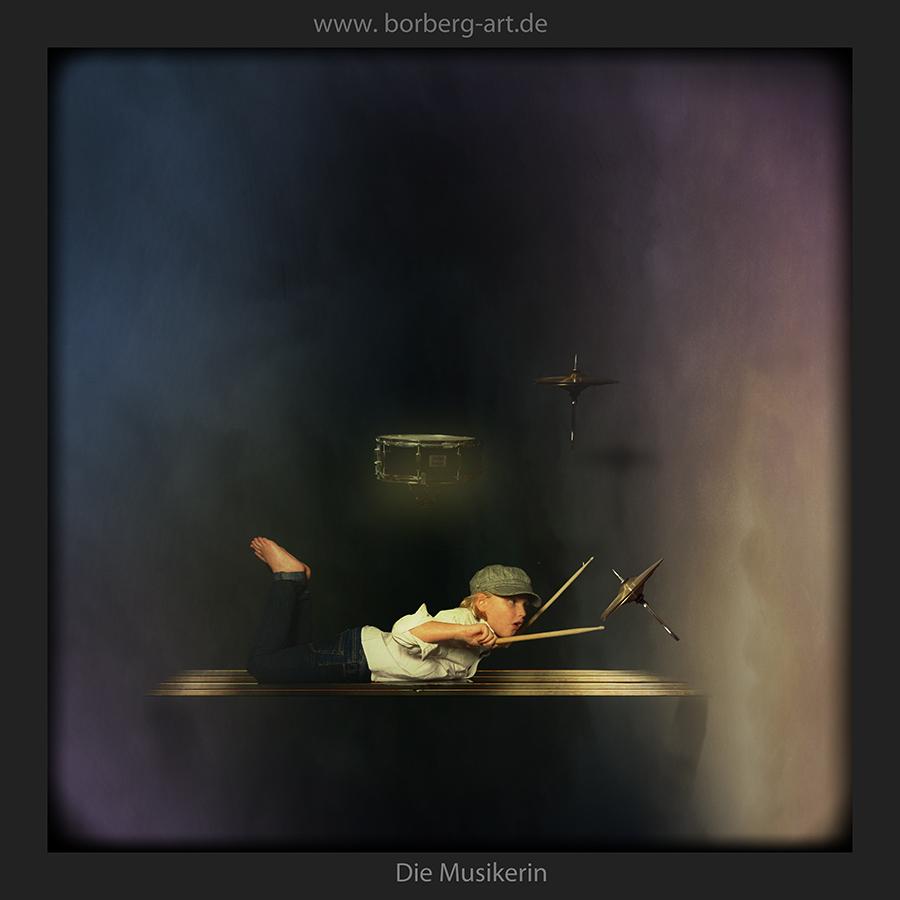 Die junge Musikerin