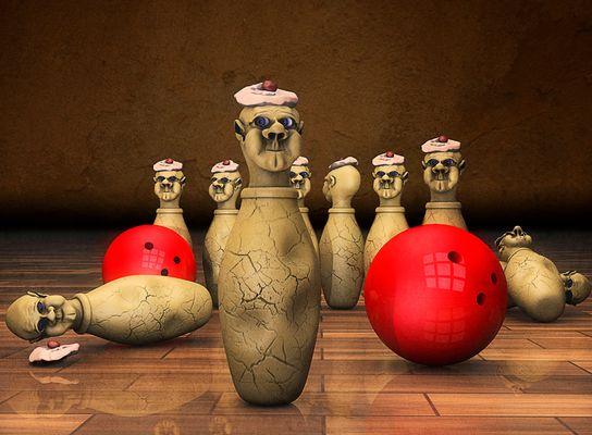 die Jungs von der Bowlingbahn ...