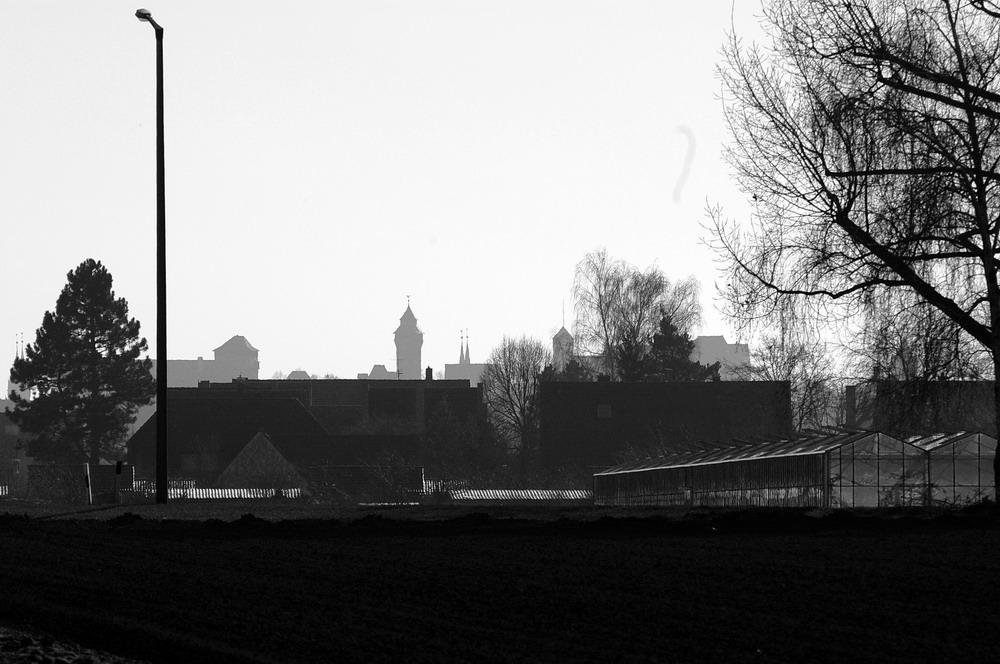 Die Kaiserburg in Nürnberg...