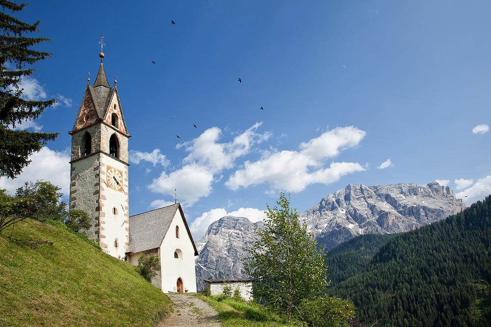 Die Kapelle Heilige Barbara in Alta Badia