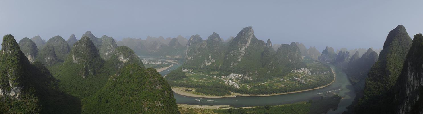 Die Karstberge am Li-Fluss...