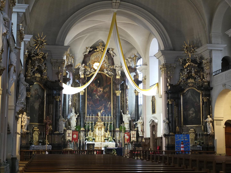 die katholische Kirche St. Alexander in Rastatt