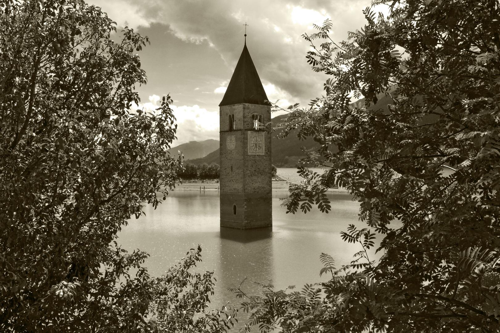 die Kirche im See 1 - Rechensee