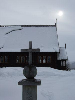 Die Kirche in Kvikkjokk