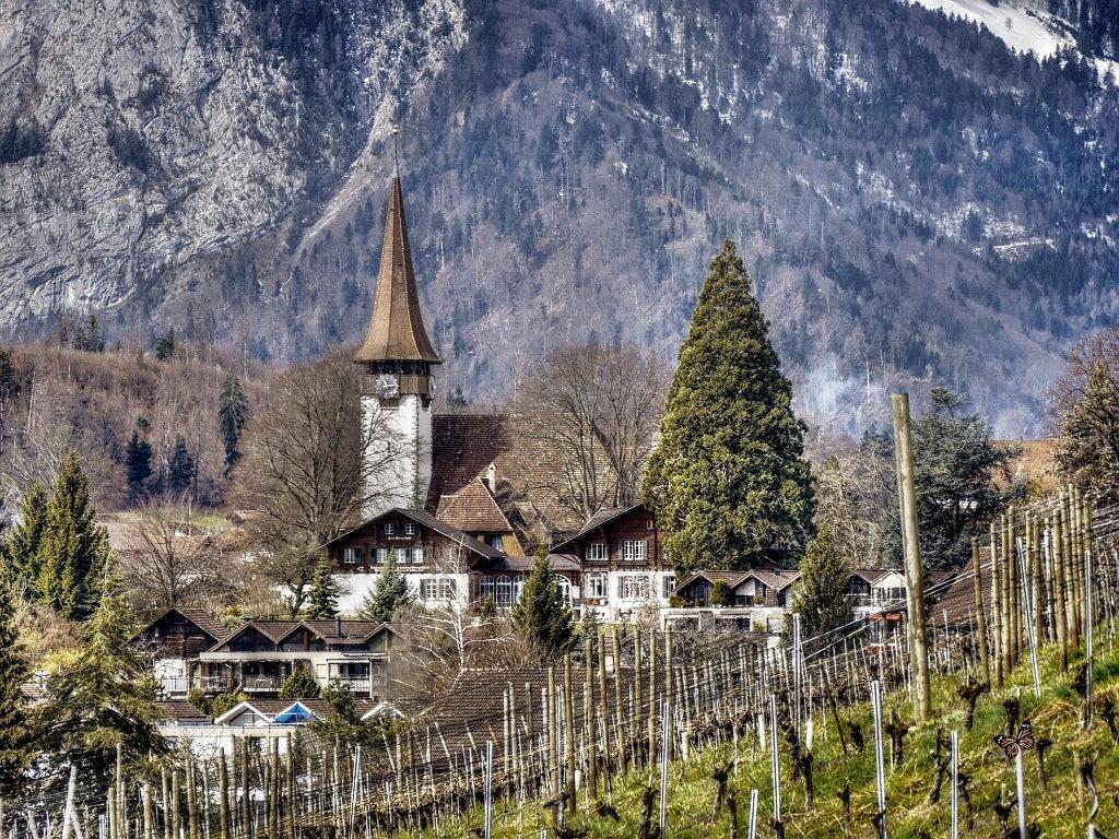 die Kirche in Spiez