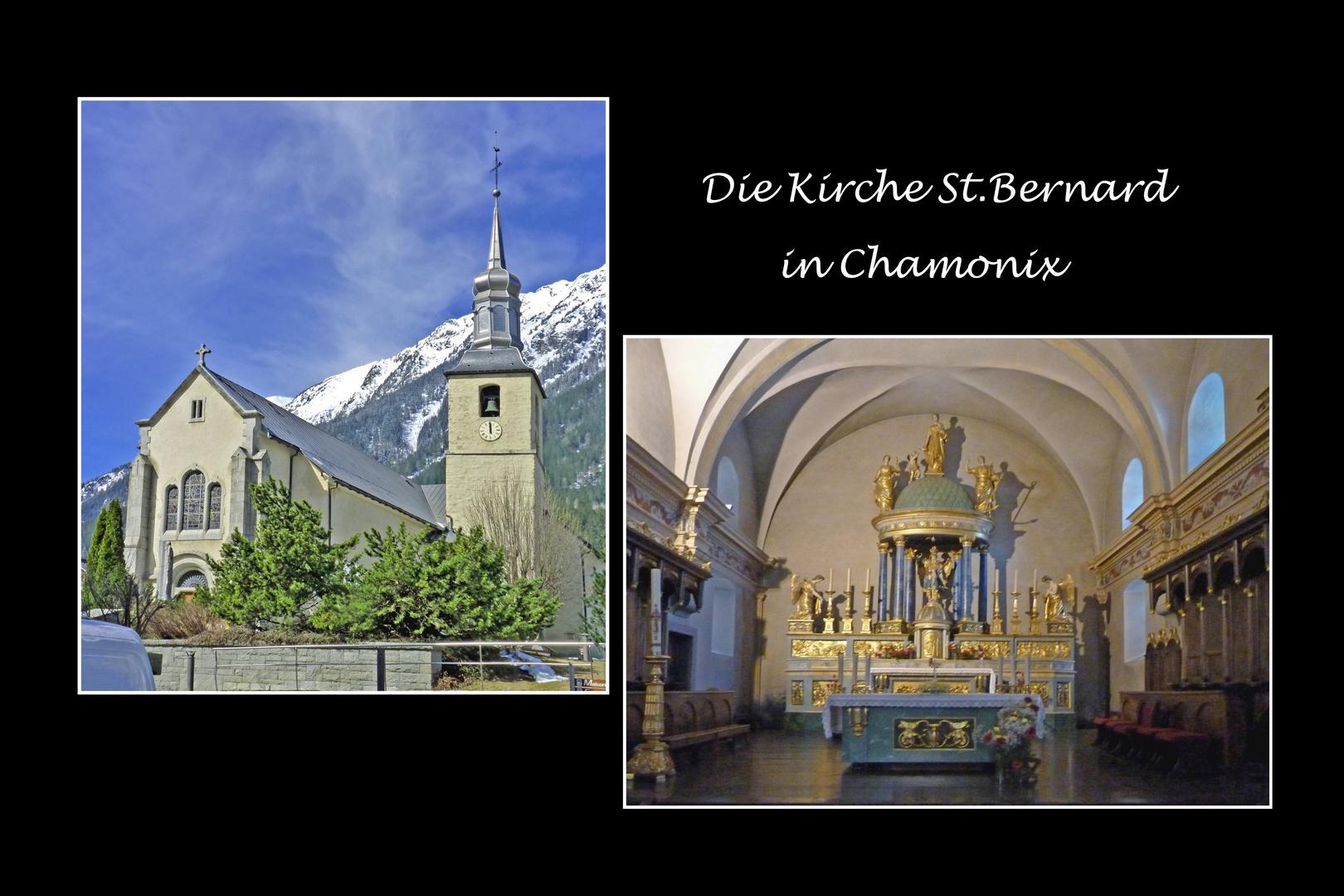 Die Kirche St. Bernard in Chamonix
