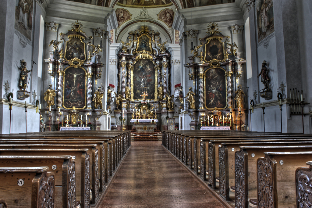 Die Kirche St. Georg in Ruhpolding