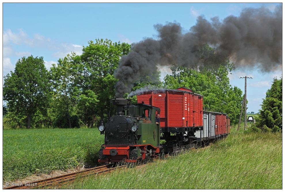 """Die """"Kleene"""" mit einem Güterzug"""