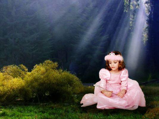 Die kleine Elfe ist traurig.....