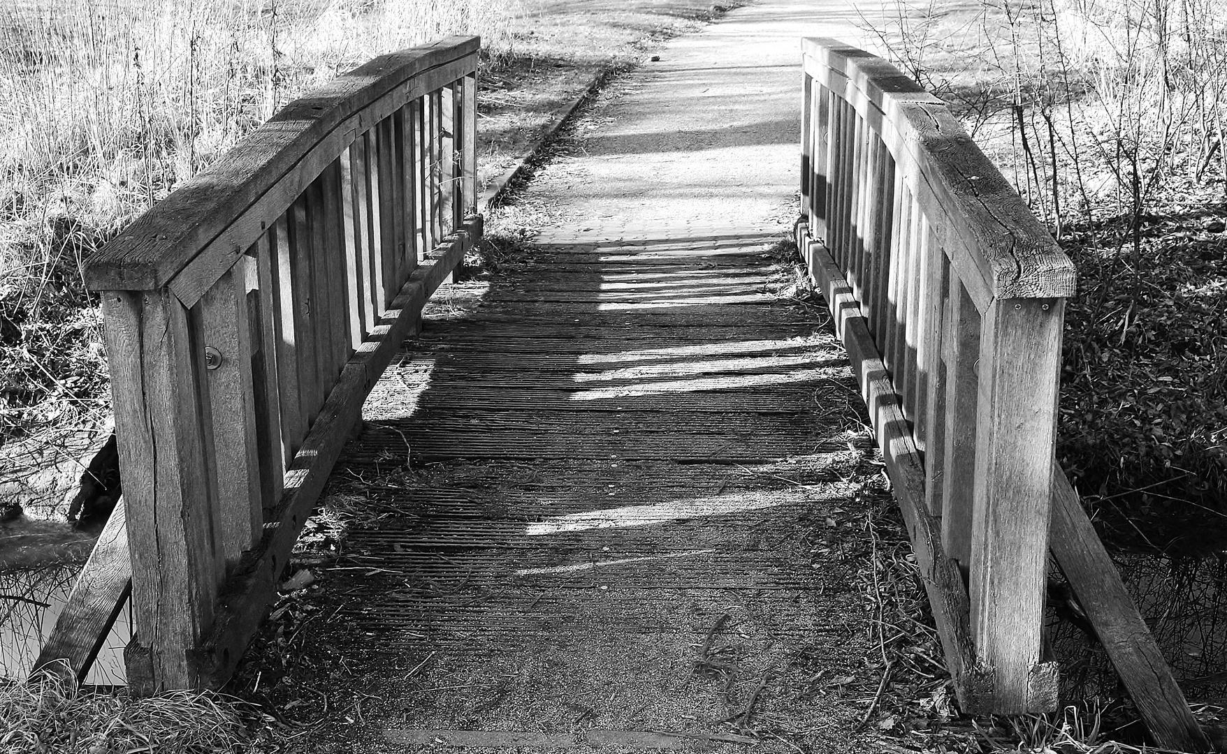 die kleine Holzbrücke