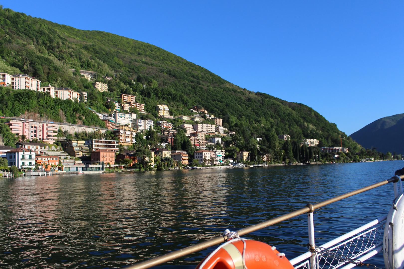 Die Kleine italienische Insel in der Schweiz
