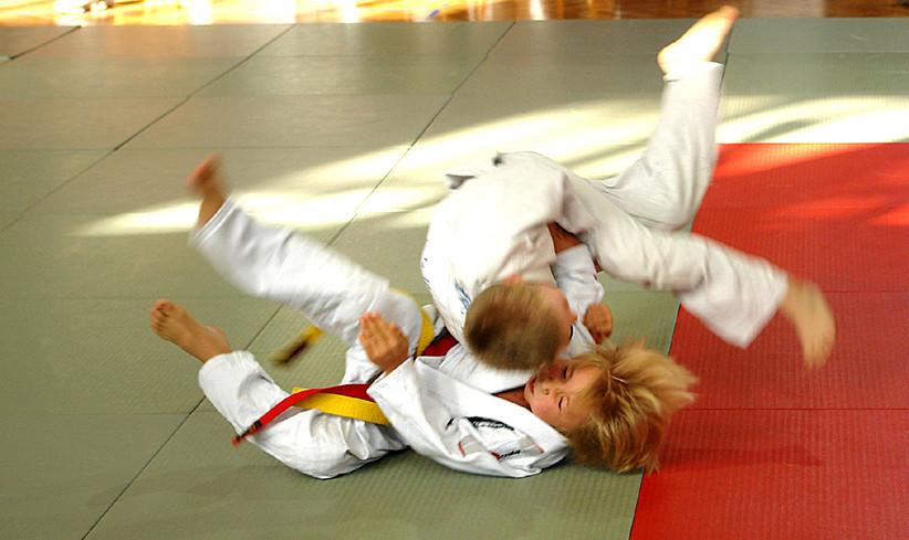 die kleine judokas...beim kampf