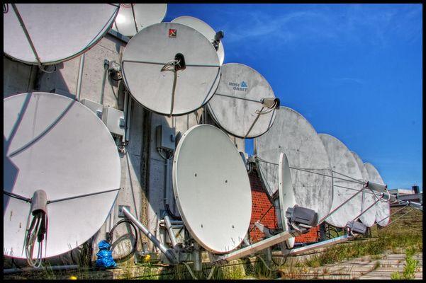 Die kleine Satelliten-Anlage.