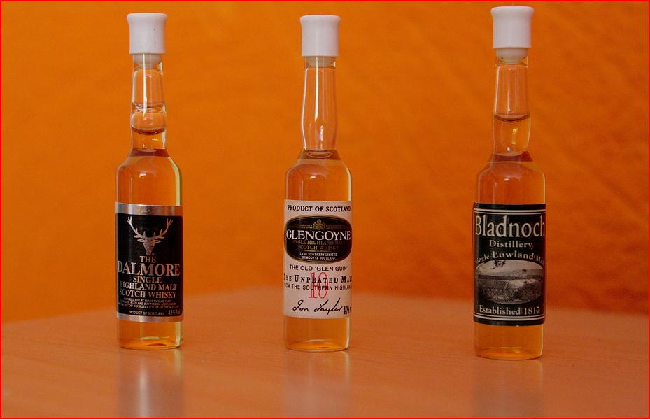 Die kleinsten Whisky Flaschen der Welt