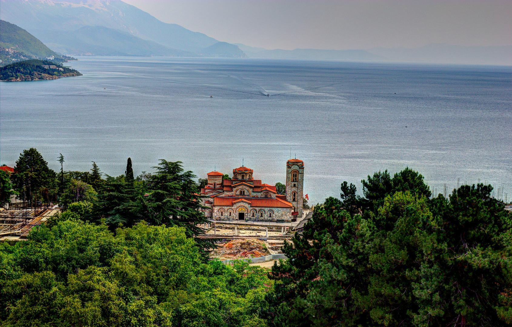 Die Klosterkirche St. Pantaleimon-Kloster in Ohrid Mazedonien
