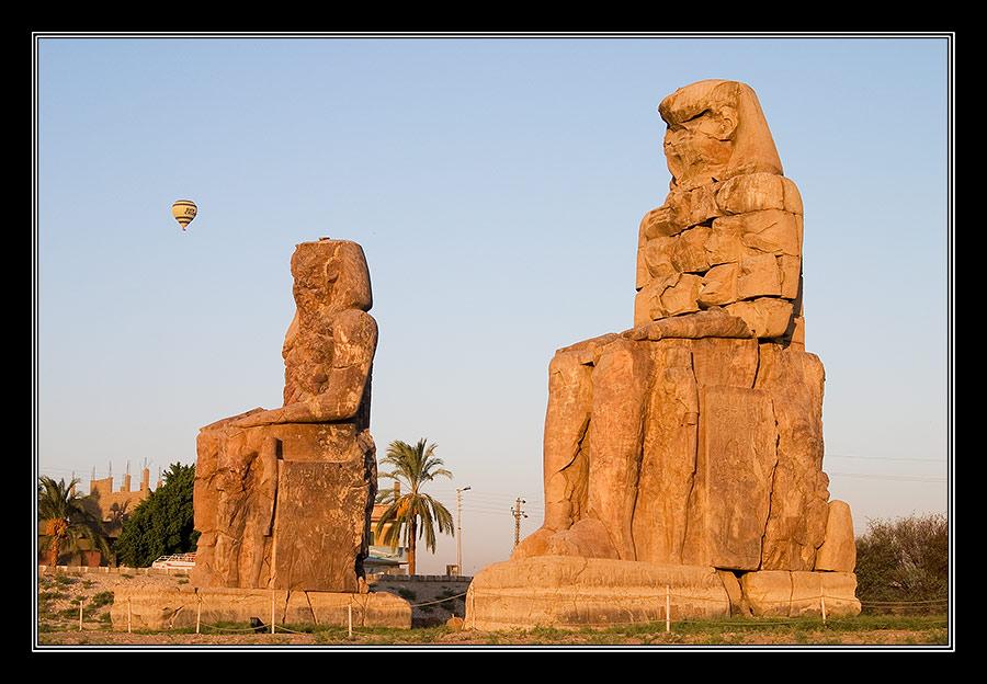 Die Kolosse des Memnon..