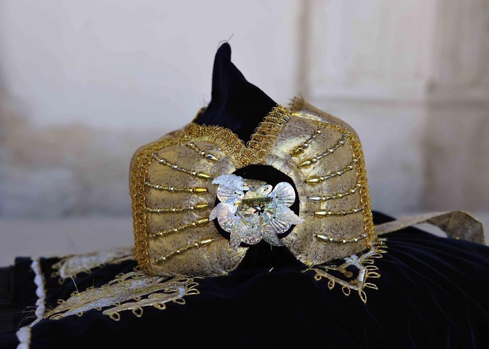 Die Kopfbedeckung des Chans von Bukhara
