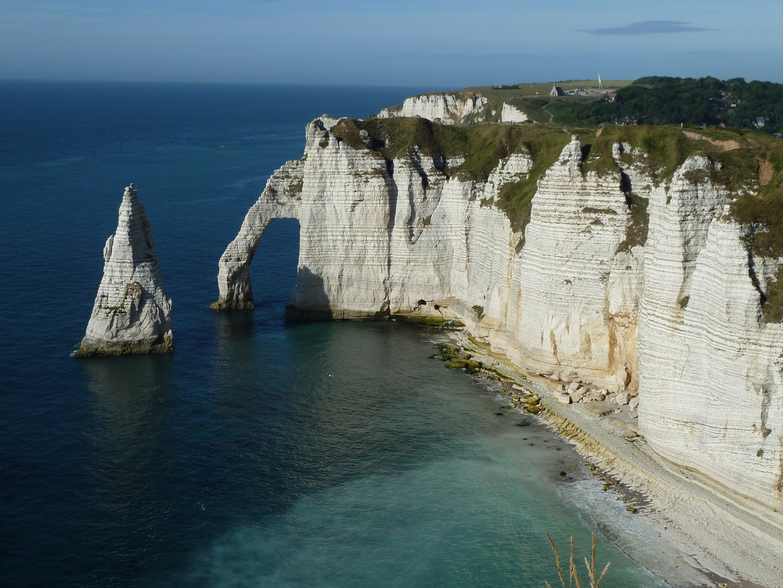 die Küste von Etretat, Normandie, Frankreich