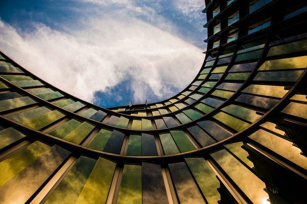 Die Kurve im Gebäude