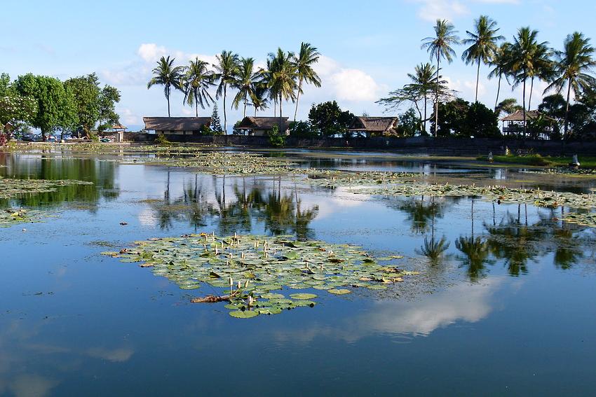 ...die Lagune von Candi Dasa...