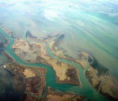 Die Lagune von oben