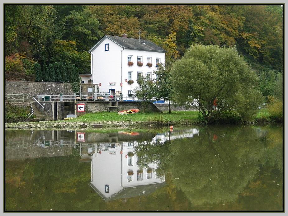 die Lahn bei Weilburg