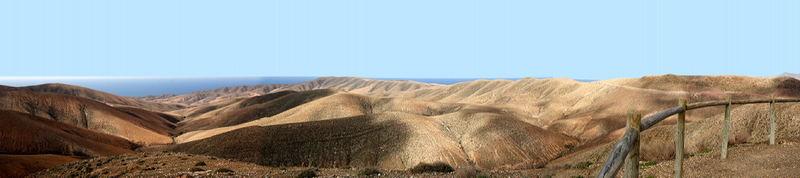 Die Landschaft von Fuerteventura