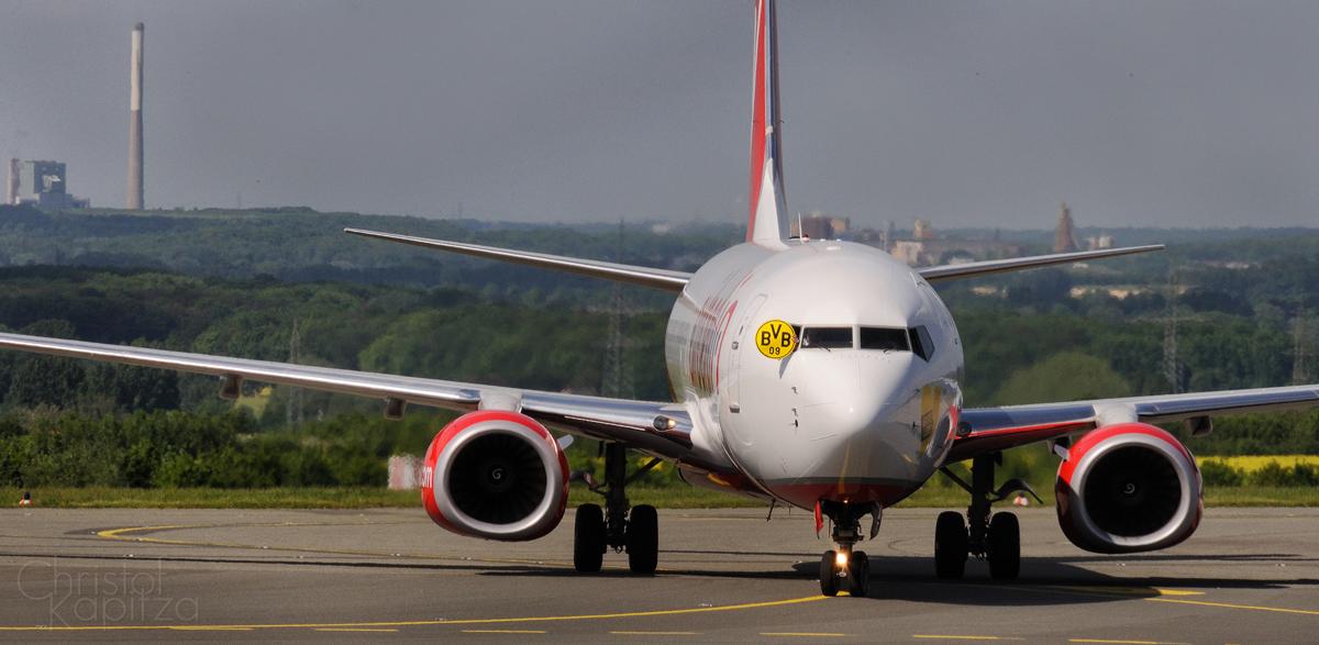 Die Landung des Double Siegers 2012