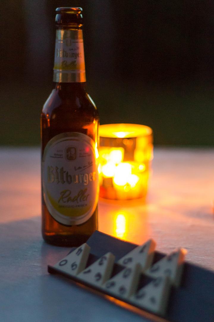 Die letzen Sommertage genießen, ein Bier gehört natürlich auch dazu!