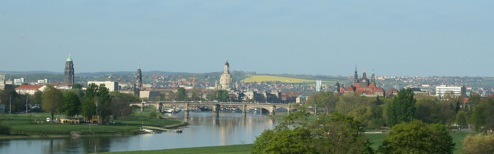 Die letzte Ansicht von Dresden ....ohne Brücke