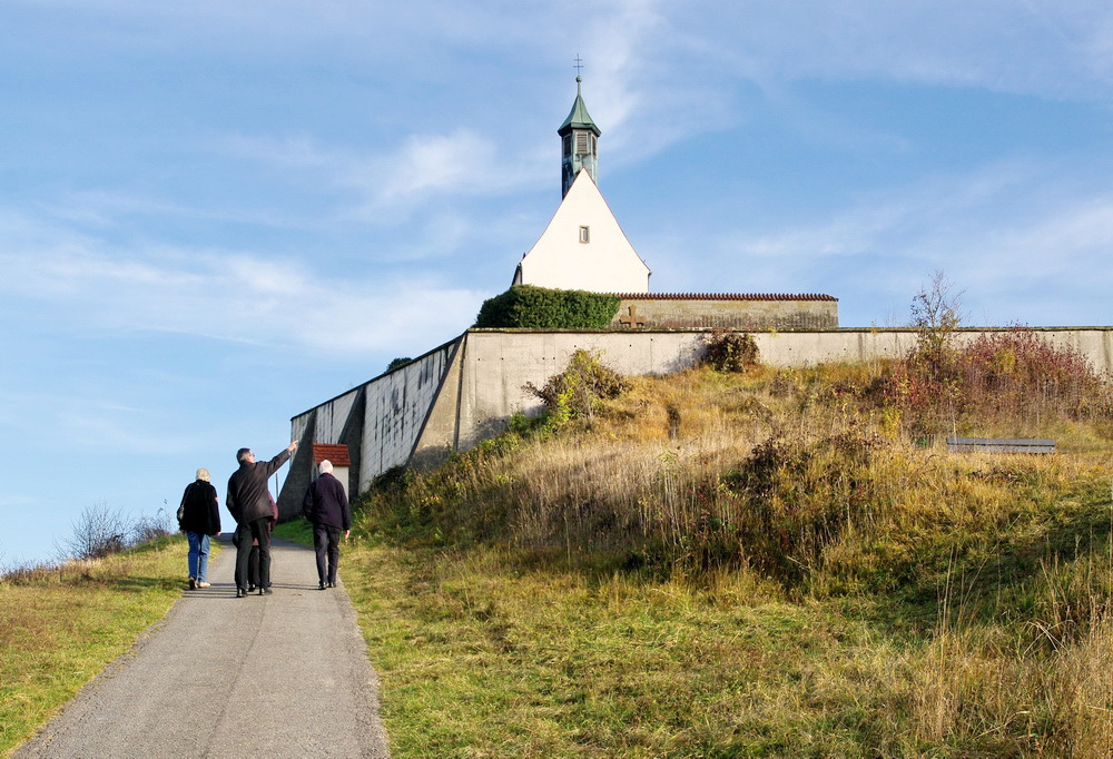 Die letzten Meter zur Wurmlinger Kapelle