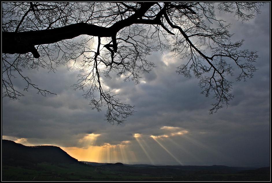 Die letzten Sonnenstrahlen...
