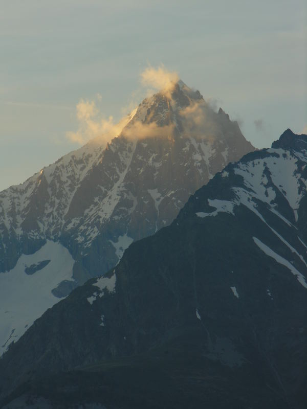 Die letzten Sonnenstrahlen auf der Bietschhorn