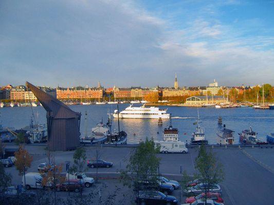 Die letzten Sonnenstrahlen auf Stockholm