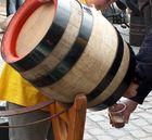 Die letzten Tropfen Bier aus dem Fass gab es kostenlos