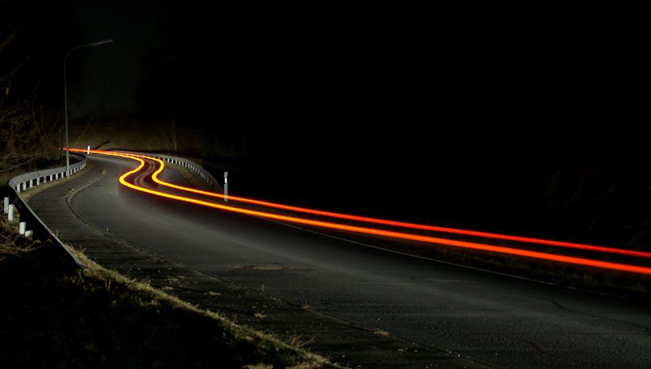 Die leuchtende Landstraße