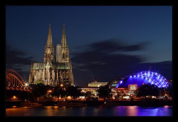 die Lichter am Kölner Dom