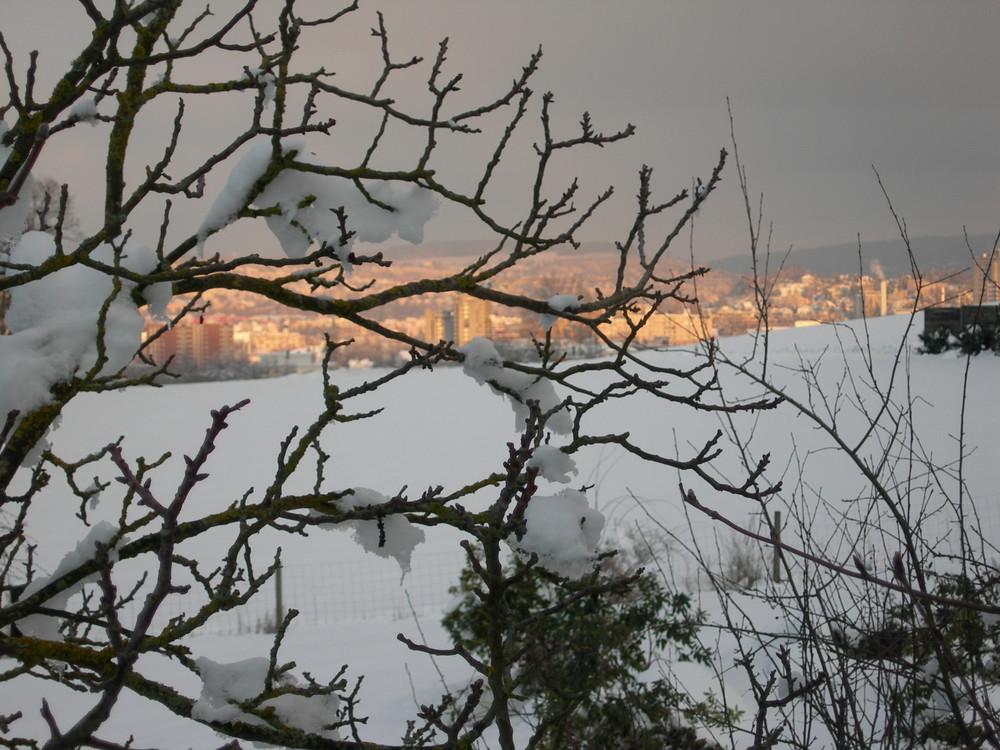 Die Lichter im Schnee